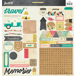 Crate Paper - Journey Collection - Cardstock Stickers with Foil Accents - Accents