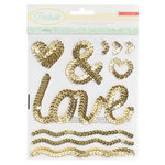 Crate Paper - Poolside Collection - Sequin Stickers - Icons