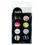 American Crafts - Flair - Travel - 8 Adhesive Badges - Vacation
