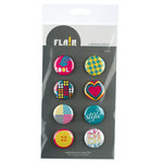American Crafts - Flair - Fashion - 8 Adhesive Badges - Cool