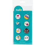 American Crafts - Flair - Craft Fair - 8 Adhesive Badges - DIY, CLEARANCE