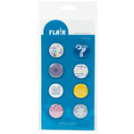 American Crafts - Flair - Character - 8 Adhesive Badges - Question, CLEARANCE