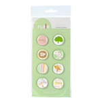 American Crafts - Botanique Collection - Flair - 8 Adhesive Badges - Pretty, CLEARANCE