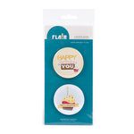 American Crafts - Confetti Collection - Flair - 8 Adhesive Badges - Happy Birthday to You