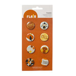 American Crafts - Nightfall Collection - Halloween - Flair - 8 Adhesive Badges - Thanks