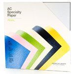 American Crafts - 12 x 12 Specialty Cardstock Pack - 30 Sheets - Pearl