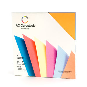 American Crafts - 12 x 12 Cardstock Pack - 60 Sheets - Tropicals