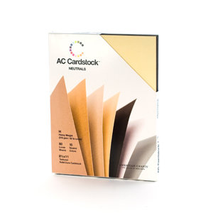 American Crafts - 8.5 x 11 Cardstock Pack - 60 Sheets - Neutrals