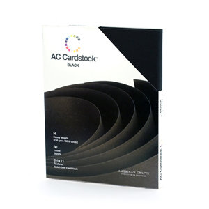 American Crafts - 8.5 x 11 Cardstock Pack - 60 Sheets - Black
