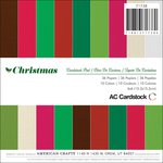 American Crafts - Christmas - 6 x 6 Cardstock Paper Pad - Christmas