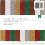 American Crafts - Christmas - 6 x 6 Specialty Paper Pad - Glitter Paper - Christmas