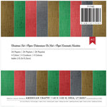 American Crafts - Christmas - 6 x 6 Specialty Paper Pad - Foil - Christmas