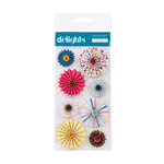 American Crafts - Confetti Collection - Delights - 3 Dimensional Stickers - Invitation Pinwheel Flower