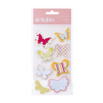 American Crafts - Hello Sunshine Collection - Delights - 3 Dimensional Stickers - Sunbeam