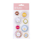 American Crafts - Hello Sunshine Collection - Delights - 3 Dimensional Stickers - Pinwheel Sunshine