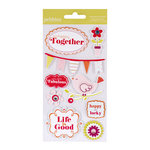 American Crafts - Pebbles - Happy Go Lucky Collection - 3 Dimensional Stickers