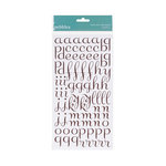 American Crafts - Pebbles - Floral Lane Collection - Stickers - Alphabet - Brown