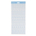 Pebbles - New Addition Boy Collection - Stickers - Alphabet - Blue