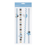 American Crafts - Pebbles - New Addition Boy Collection - 3 Dimensional Stickers - Border