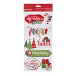 American Crafts - Pebbles - Welcome Christmas Collection - 3 Dimensional Stickers - Phrase and Icon