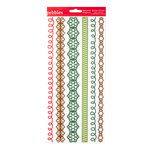 American Crafts - Pebbles - Welcome Christmas Collection - Stickers - Border