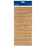 American Crafts - Pebbles - Fresh Goods Collection - Stickers - Alphabet - Kraft