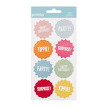 American Crafts - Pebbles - Hip Hip Hooray Collection - 3 Dimensional Embossed Stickers