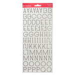 American Crafts - Pebbles - Country Picnic Collection - Stickers - Alphabet - Black