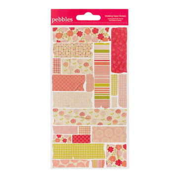 American Crafts - Pebbles - Country Picnic Collection - Embossed Stickers - Masking Tape