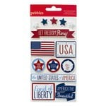 American Crafts - Pebbles - Let Freedom Ring Collection - 3 Dimensional Stickers
