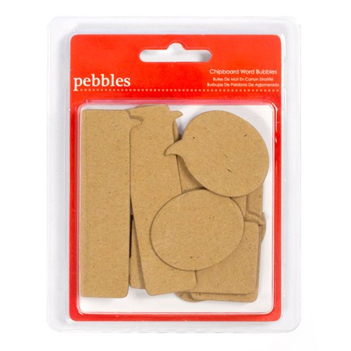 American Crafts - Pebbles - Seen and Noted Collection - Chipboard Shapes - Word Bubbles