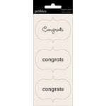 American Crafts - Pebbles - Basics Collection - Cardstock Stickers - Card Sentiment Phrases - Congrats