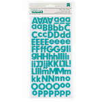 American Crafts - Pebbles - Basics Collection - Thickers - Foam Stickers - Aqua
