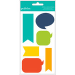 American Crafts - Pebbles - Love You More Collection - Chipboard Shapes - Boy