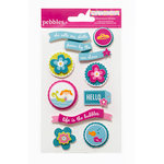 American Crafts - Pebbles - Party with Amy Locurto - 3 Dimensional Stickers - Mermaid