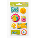 American Crafts - Pebbles - Party with Amy Locurto - 3 Dimensional Stickers - Pool