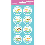 American Crafts - Pebbles - Party with Amy Locurto - Cardstock Stickers - Round - Mermaid