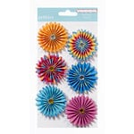 American Crafts - Pebbles - Party with Amy Locurto - Paper Flowers - Rainbow
