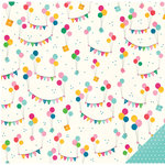 Pebbles - Birthday Wishes Collection - 12 x 12 Double Sided Paper - Just For You