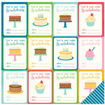 Pebbles - Birthday Wishes Collection - 12 x 12 Double Sided Paper - You're Invited