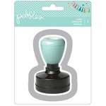 American Crafts - Pebbles - Birthday Wishes Collection - Self-Inking Stamp - Thanks
