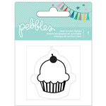 Pebbles - Birthday Wishes Collection - Clear Acrylic Stamp - Cupcake