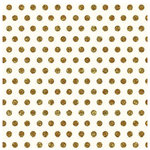 Pebbles - Homemade Collection - 12 x 12 Cream Paper - Gold Dot