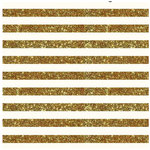 Pebbles - Homemade Collection - 12 x 12 Cream Paper with Glitter Accents - Stripe