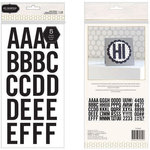 Pebbles - Homemade Collection - Large Alphabet Stickers - Black