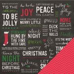 Pebbles - Home For Christmas Collection - 12 x 12 Double Sided Paper - Home For Christmas
