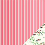 Pebbles - Home For Christmas Collection - 12 x 12 Double Sided Paper - Candy Canes