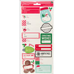 Pebbles - Home For Christmas Collection - Cardstock Stickers - Labels