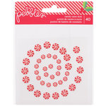 Pebbles - Home For Christmas Collection - Candy Cane Dots
