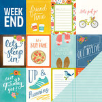 Pebbles - Happy Day Collection - 12 x 12 Double Sided Paper - Weekend